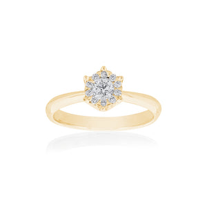 18ct Yellow Gold Alessia Diamond Ring