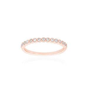 18ct Rose Gold Millie Diamond Band