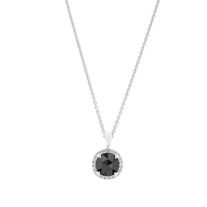 18ct White Gold Black and White Diamond Pendant