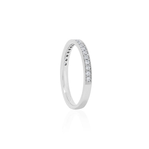 18ct White Gold Layla Diamond Band