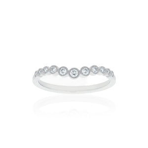 18ct White Gold Macie Diamond Band