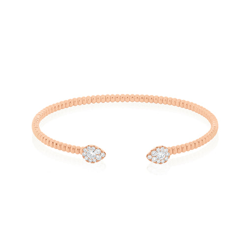 18ct Rose Gold Essence Diamond Cuff