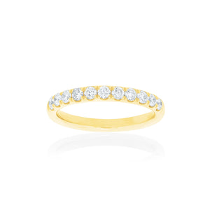 18ct Yellow Gold Kiara Diamond Band 11D=.50ct