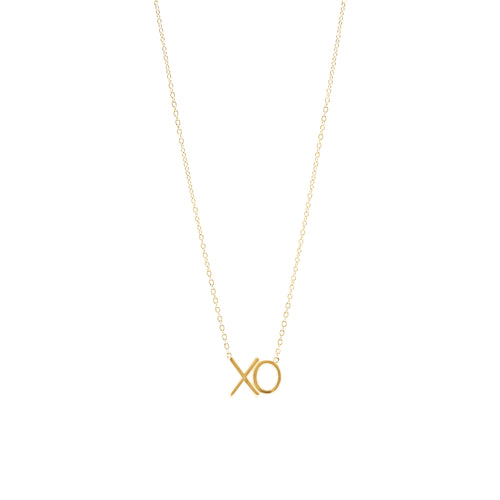 Gold Plated Xo Necklace