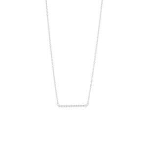 Silver Bead Bar Necklace