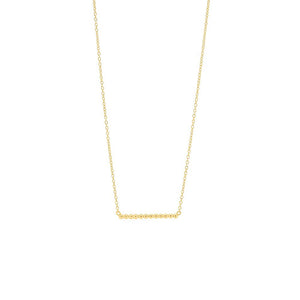 Gold Plated Bead Bar Necklace