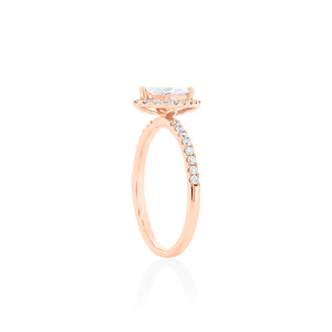 18ct Rose Gold Iyla Diamond Ring