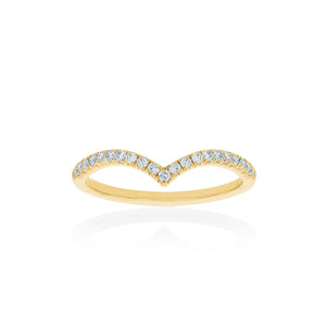 18ct Yellow Gold Celestine Diamond Band