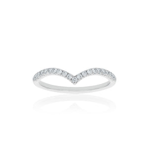 18ct White Gold Celestine Diamond Band