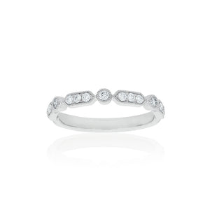 18ct White Gold Kensington Diamond Band