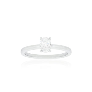 18ct White Gold Willow Diamond Ring 1D=.50ct