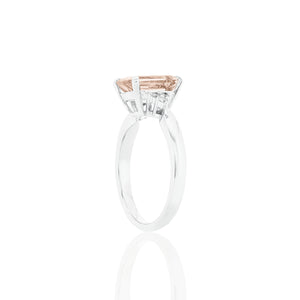 18ct White Gold Mila Morganite Diamond Ring