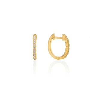 18ct Gold Rosalia Diamond Hoop Earrings