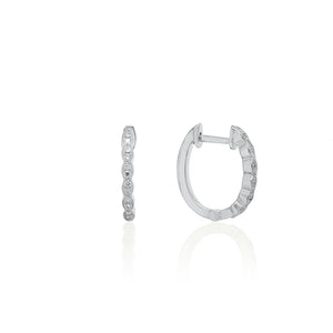 18ct White Gold Rosalia Diamond Hoop Earrings