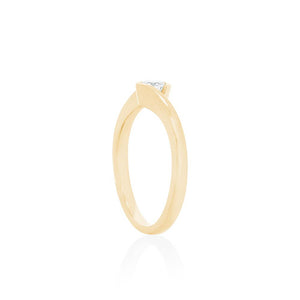 18ct Yellow Gold Trinity Diamond Ring