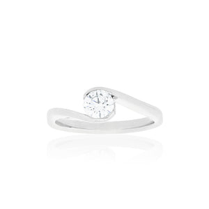 18ct White Gold Trinity Diamond Ring