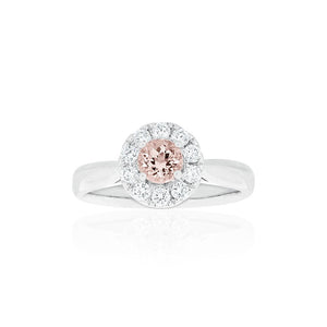 18ct White Gold Carmela Morganite Diamond Ring