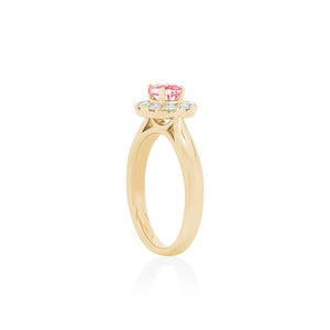 18ct Yellow Gold Carmela Pink Sapphire Diamond Ring