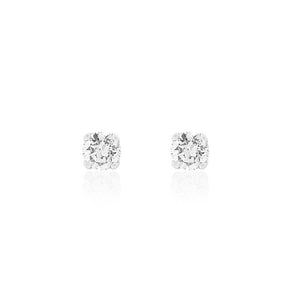 18ct White Gold Lia Diamond Stud Earrings 2D=1ct