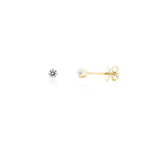 18ct Yellow Gold Luminous Diamond Stud Earring