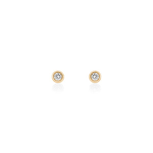 18ct Yellow Gold Droplet Diamond Stud Earrings