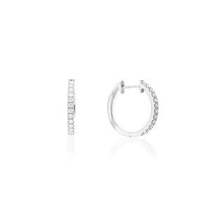 18ct White Gold Lumina Hoop Earrings