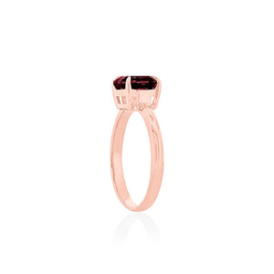 9ct Rose Gold Garnet Ayelet Ring