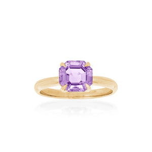 9ct Yellow Gold Amethyst Ayelet Ring