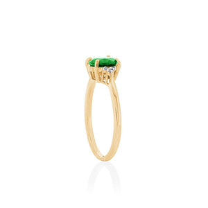 9ct Yellow Gold Nora Chrome Diopside Diamond Ring