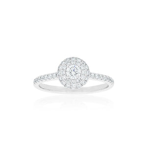 18ct White Gold Mira Diamond Ring