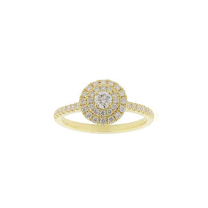 18ct Yellow Gold Mira Diamond Ring