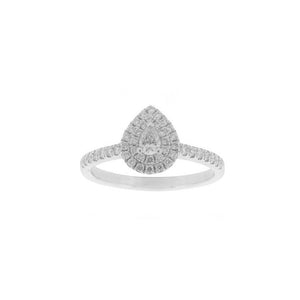 18ct White Gold Aura Diamond Ring