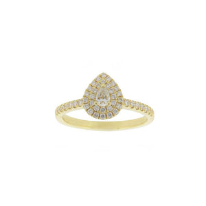 18ct Yellow Gold Aura Diamond Ring