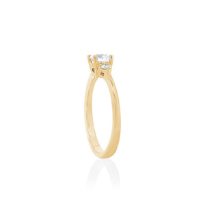 18ct Yellow Gold Elora Diamond Trilogy Ring