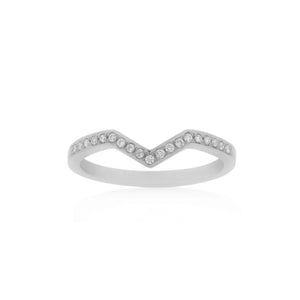 18ct White Gold Riley Diamond Band