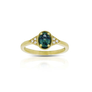 18ct Yellow Gold Petra Montana Sapphire Diamond Ring