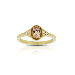 18ct Yellow Gold Petra Morganite Diamond Ring