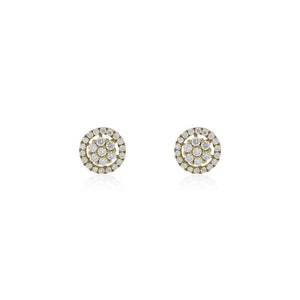 9ct Gold Radiance Diamond Stud Earrings