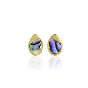 Gold Plated Ocean Droplet Studs