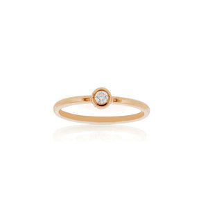 9ct Rose Gold Droplet Diamond Ring
