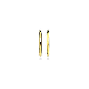Gold Plated Hoop Earrings 2.2X25mm