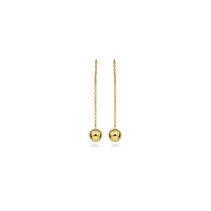 Gold Plated Ball Thread Earrings