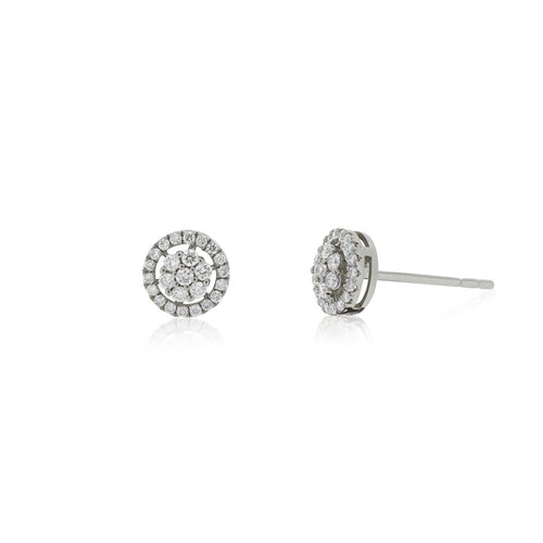 9ct White Gold Radiance Diamond Stud Earrings