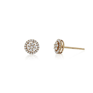 9ct Rose Gold Radiance Diamond Stud Earrings