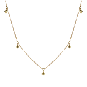 Gold Plated Bell Charm Necklace