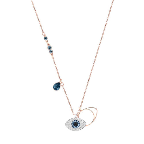 Evil Eye Rose Gold Plated Necklace