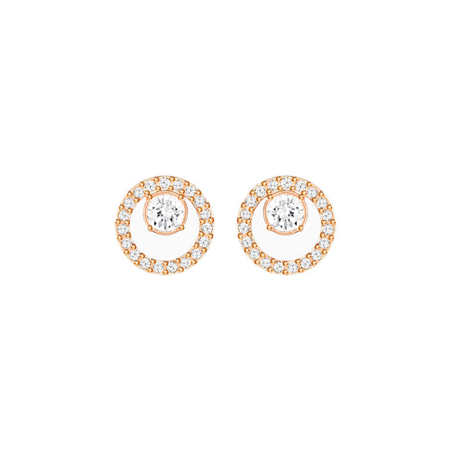 Rose Gold Plated Tone Creativity Circle Small Studs