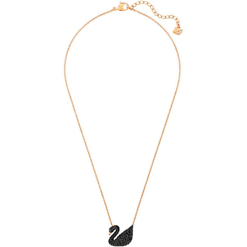 Rose Gold Iconic Black Necklace