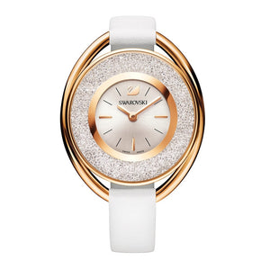 Crystalline White Rose Gold Watch