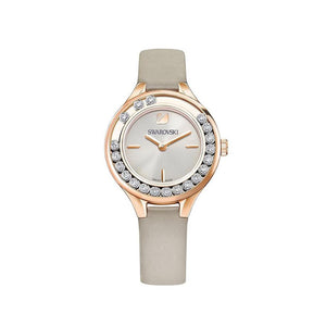 Lovely Crystals Mini Grey Leather Strap Watch